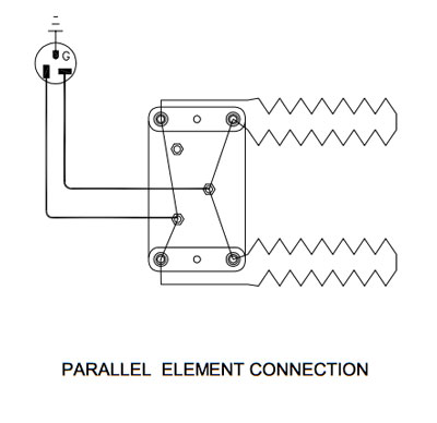parallel element connection 2 elements 400 what to do if the kiln fires slowly? l&l kiln knowledgebase kiln wiring diagram at panicattacktreatment.co
