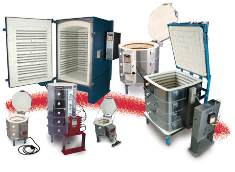Wide assortment of electric kilns for ceramics, pottery and industry