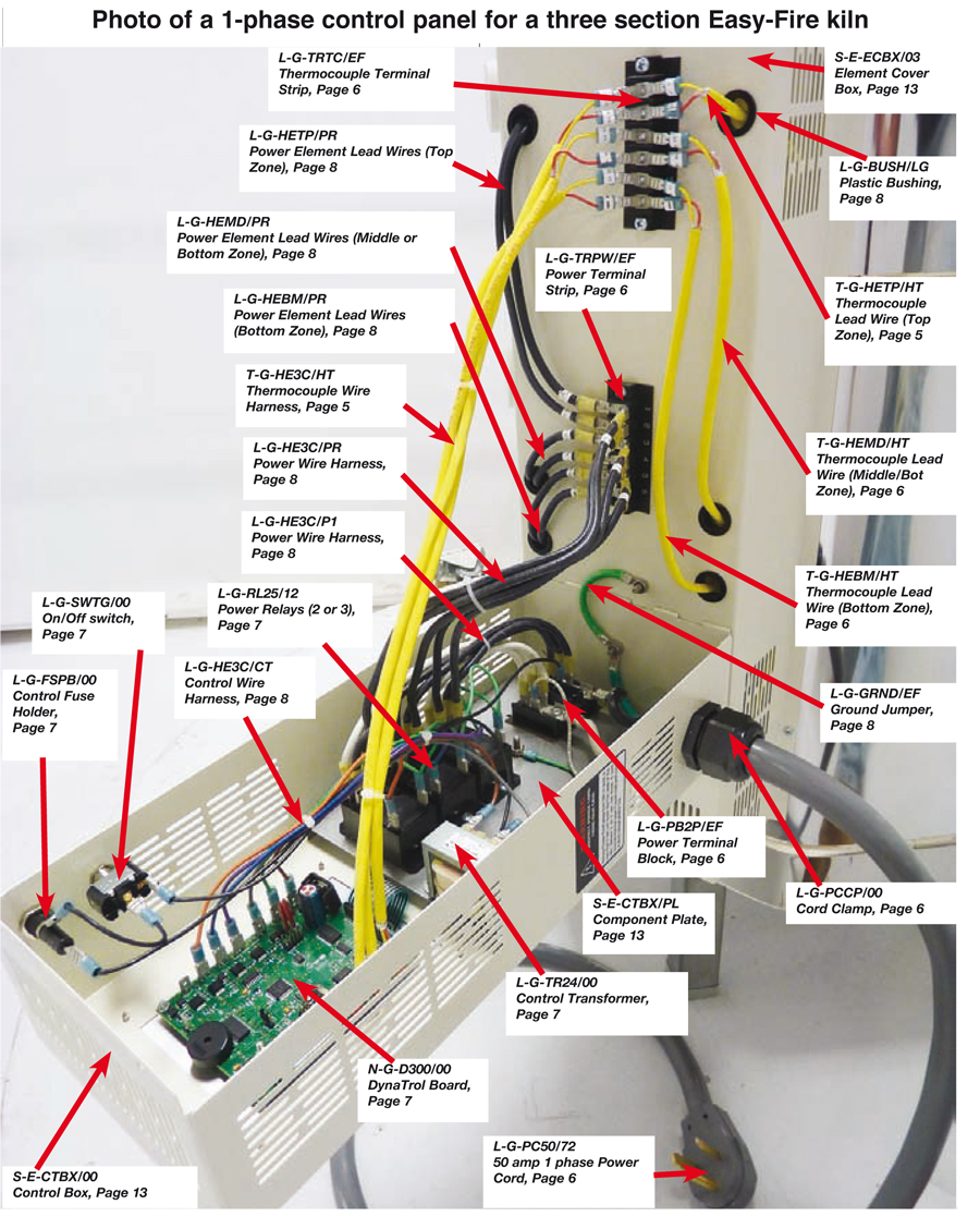 easy school parts no 1_15 bottom middle thermocouple harness for easy fire kilns type k type k thermocouple wiring diagram at crackthecode.co