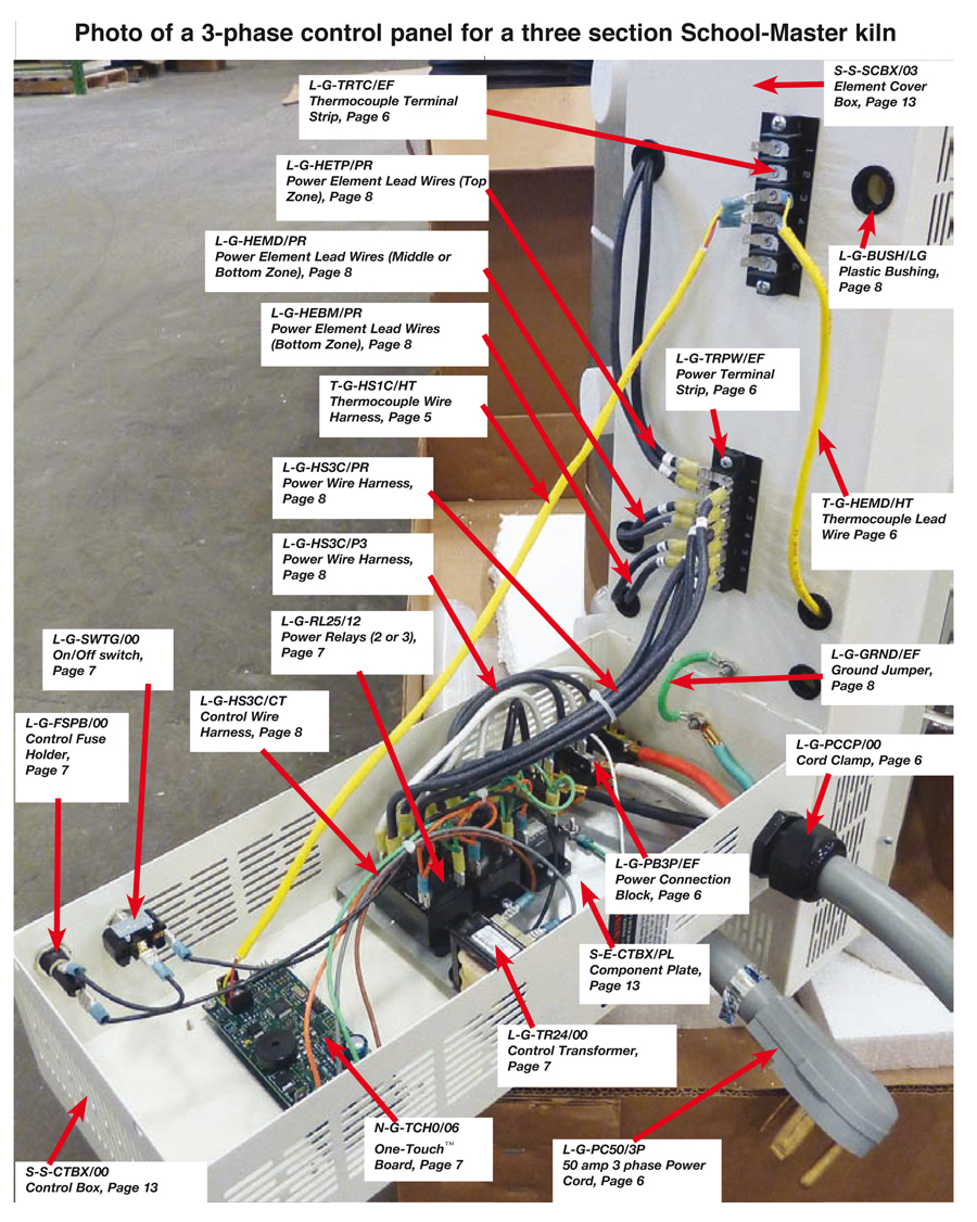 Control Wire Harness for Two Section Easy-Fire Kilns | L&L Electric ...