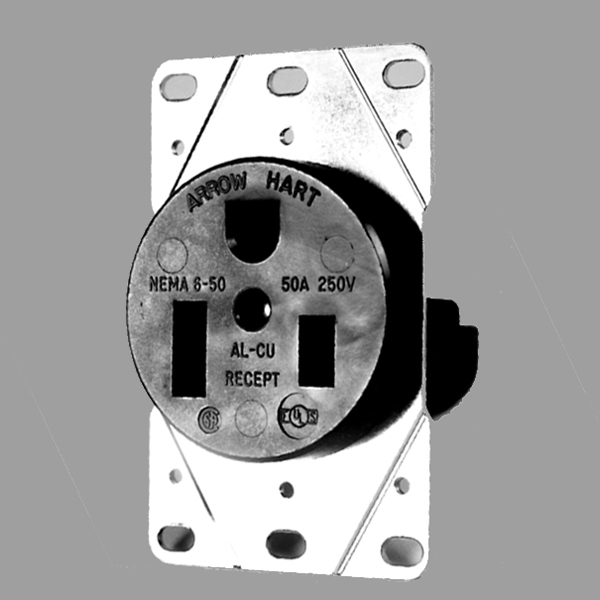 6 50r single receptacle 250v, 50 amp l\u0026l electric kilns built Nema Plug Configuration 6 50r single receptacle 250v, 50 amp