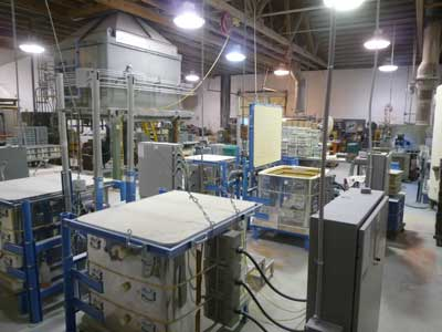 L&L DaVinci Kilns for making industrial ceramics
